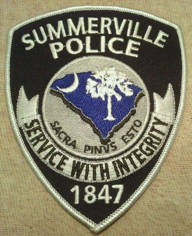 Summerville Pd Sc Police Police Patches Police Badge