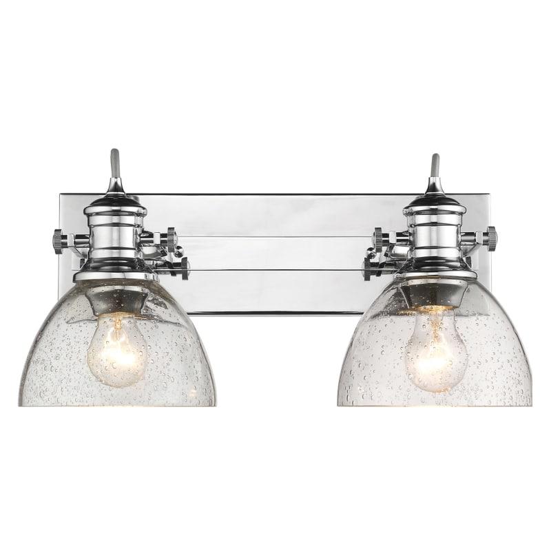 Golden Lighting 3118 Ba2 Sd Hines 2 Light 17 7 8 Wide Bathroom Vanity Wit Chrome Indoor Fixtures