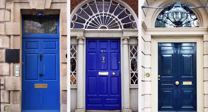 INVITING FRONT DOOR COLOURS : blue doors - pezcame.com