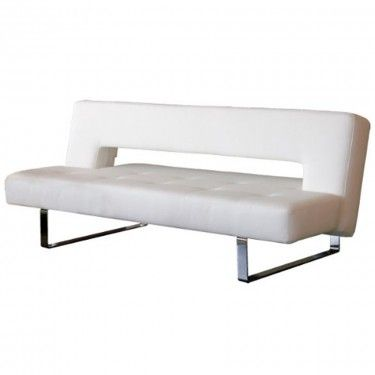 Sofabed White Imitation Leather Mobler Furniture Richmond