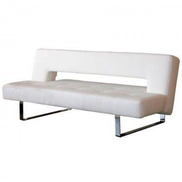 ORION | Sofa Sleeper - White Imitation Leather | Sofa beds | Sofa ...