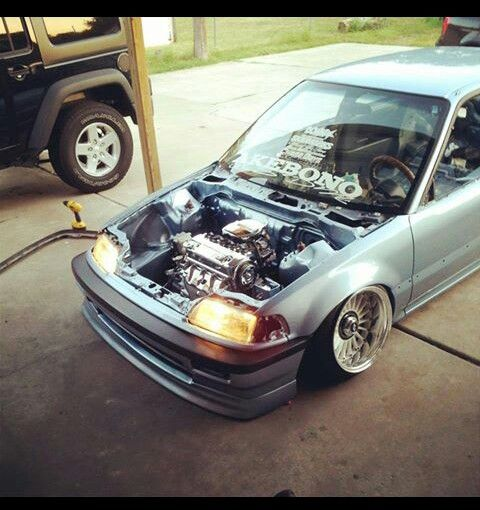 Honda Civic Ef Slammed D Series Automotive Enthusiasts Pinterest