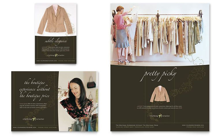 Women'S Clothing Store - Flyer & Ad Template Design | Fashion