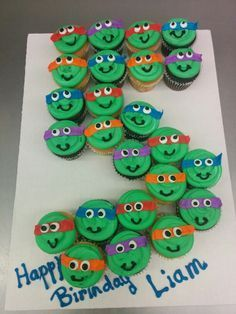 ideas about Ninja Turtle Cupcakes on Pinterest Ninja