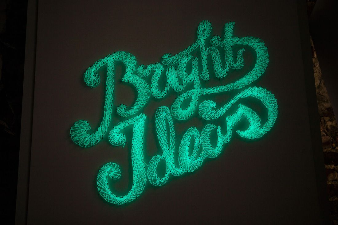 Nailed It! How to Make a Neon Typographic Sign | Neon, Nail string ...