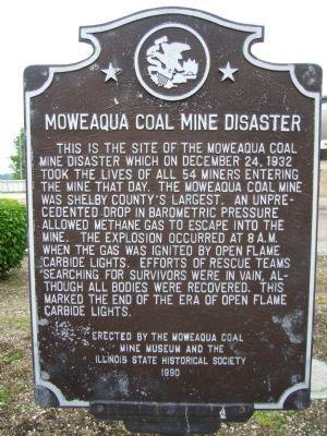Moweaka Mine Disaster | Moweaqua Coal Mine Disaster Marker