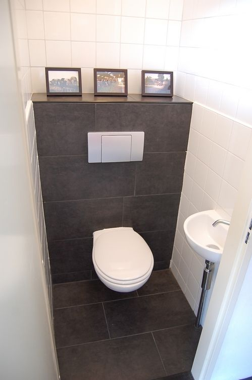 idee toilet woning sanitair pinterest g ste wc. Black Bedroom Furniture Sets. Home Design Ideas