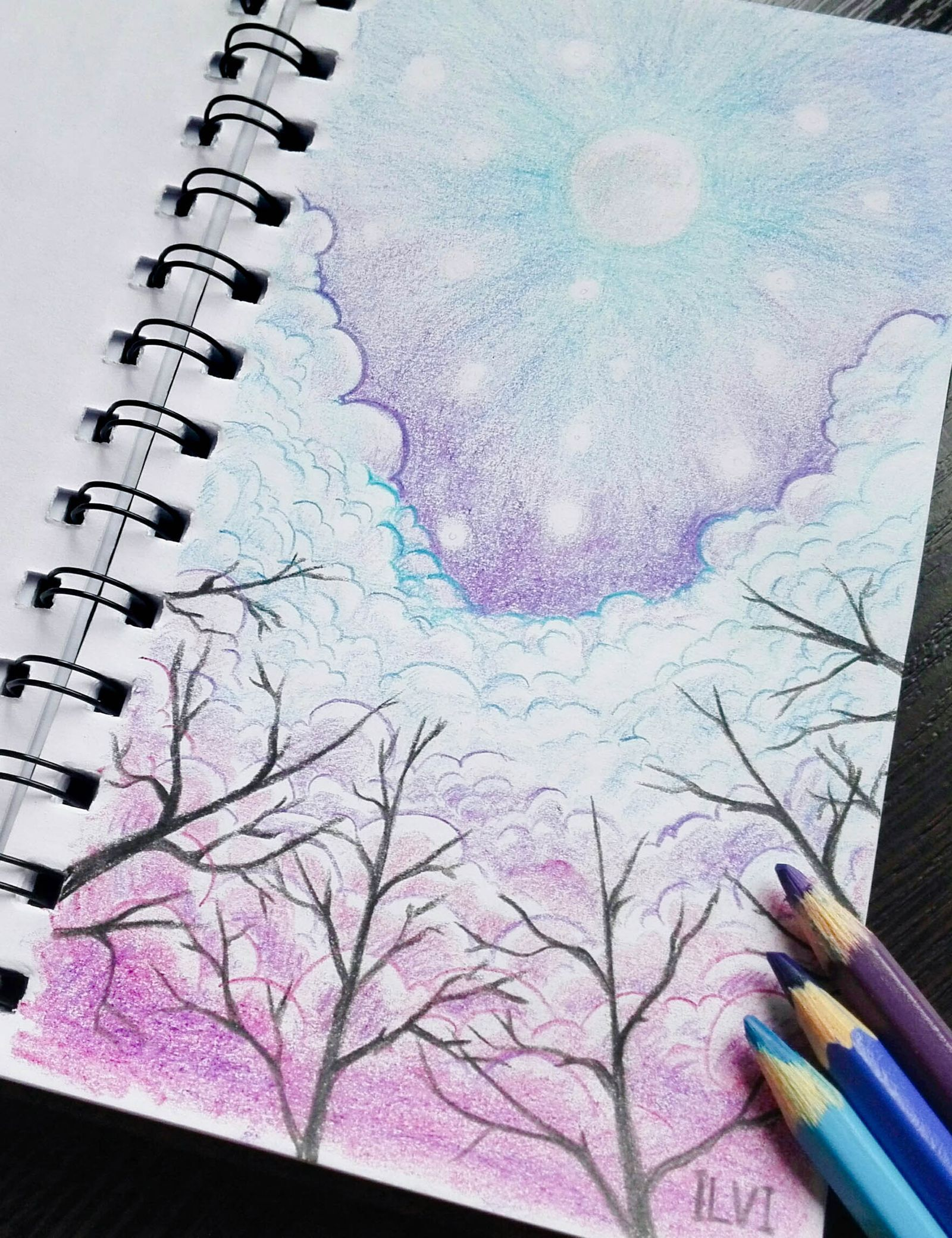 Julia Ilvi The Sketchgirl Tree Drawings Pencil Drawing Sky