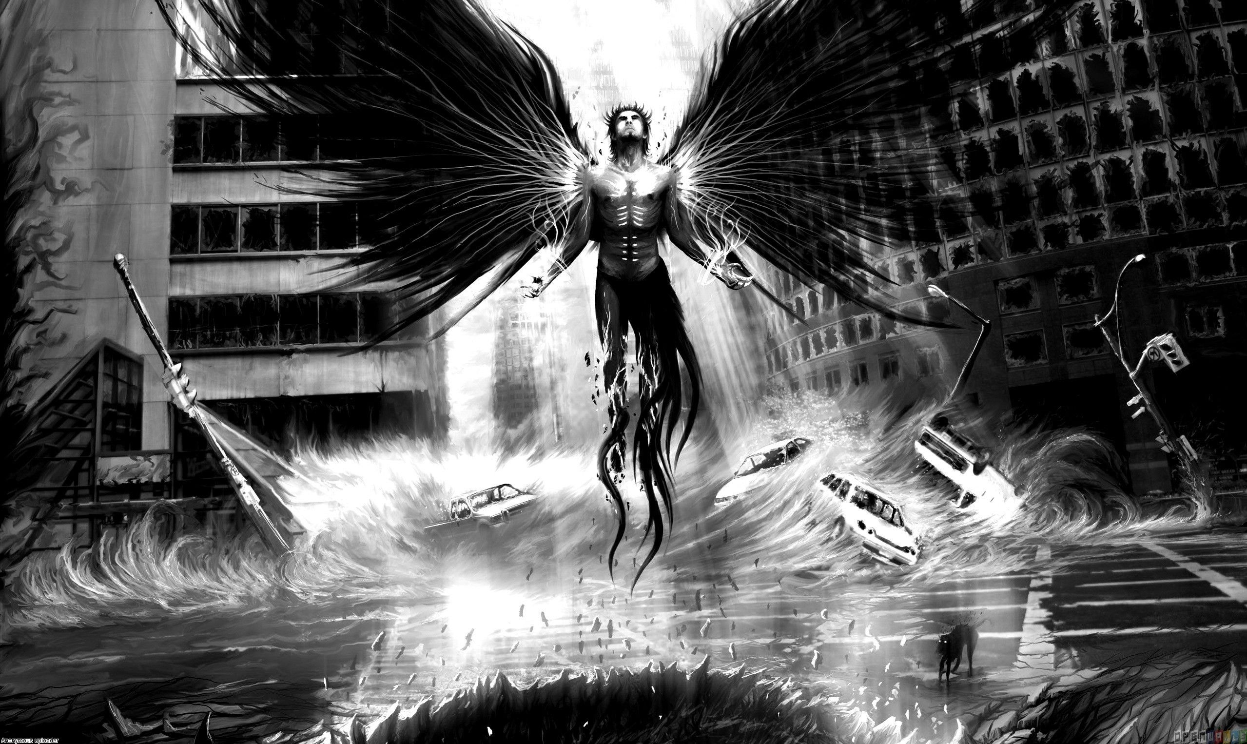 Evil On Earth Wallpaper 8486 Open Walls Dark Evil Angel Wallpaper Male Angel