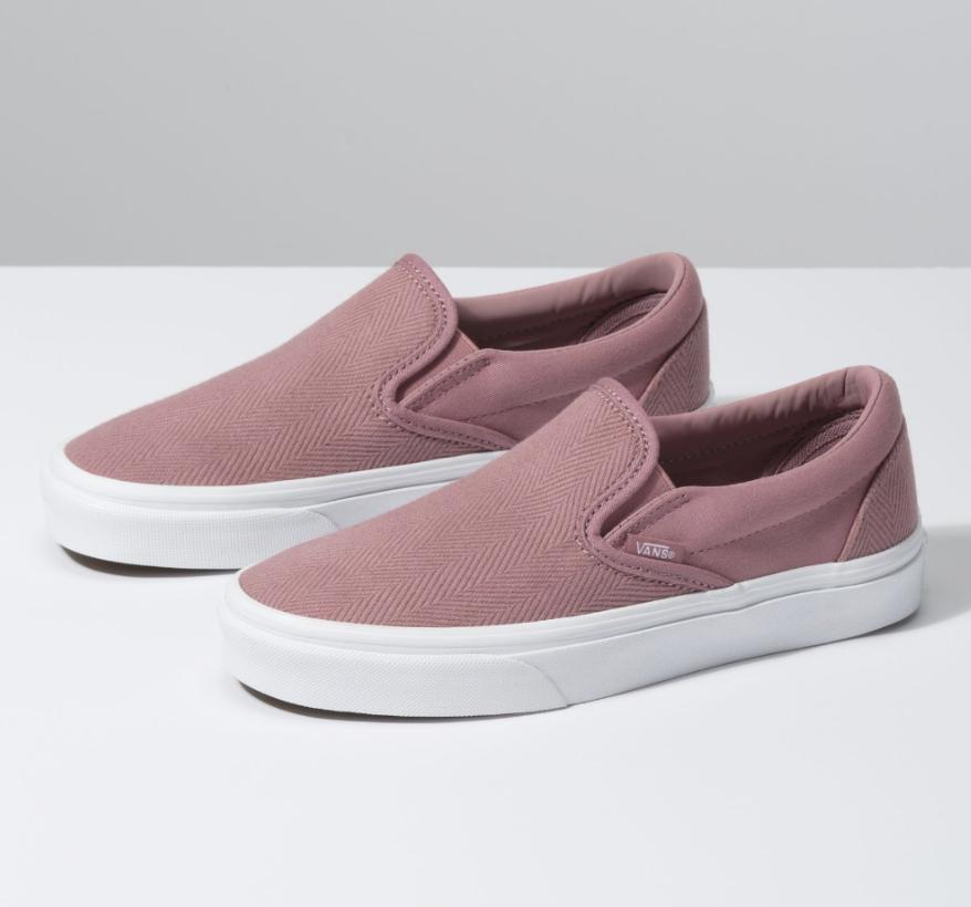 Herringbone Slip On | Shop | Vans in 2019 | Leather vans