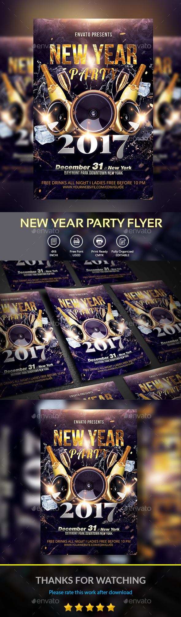 New Year Party  Party Flyer Flyer Template And Event Flyers