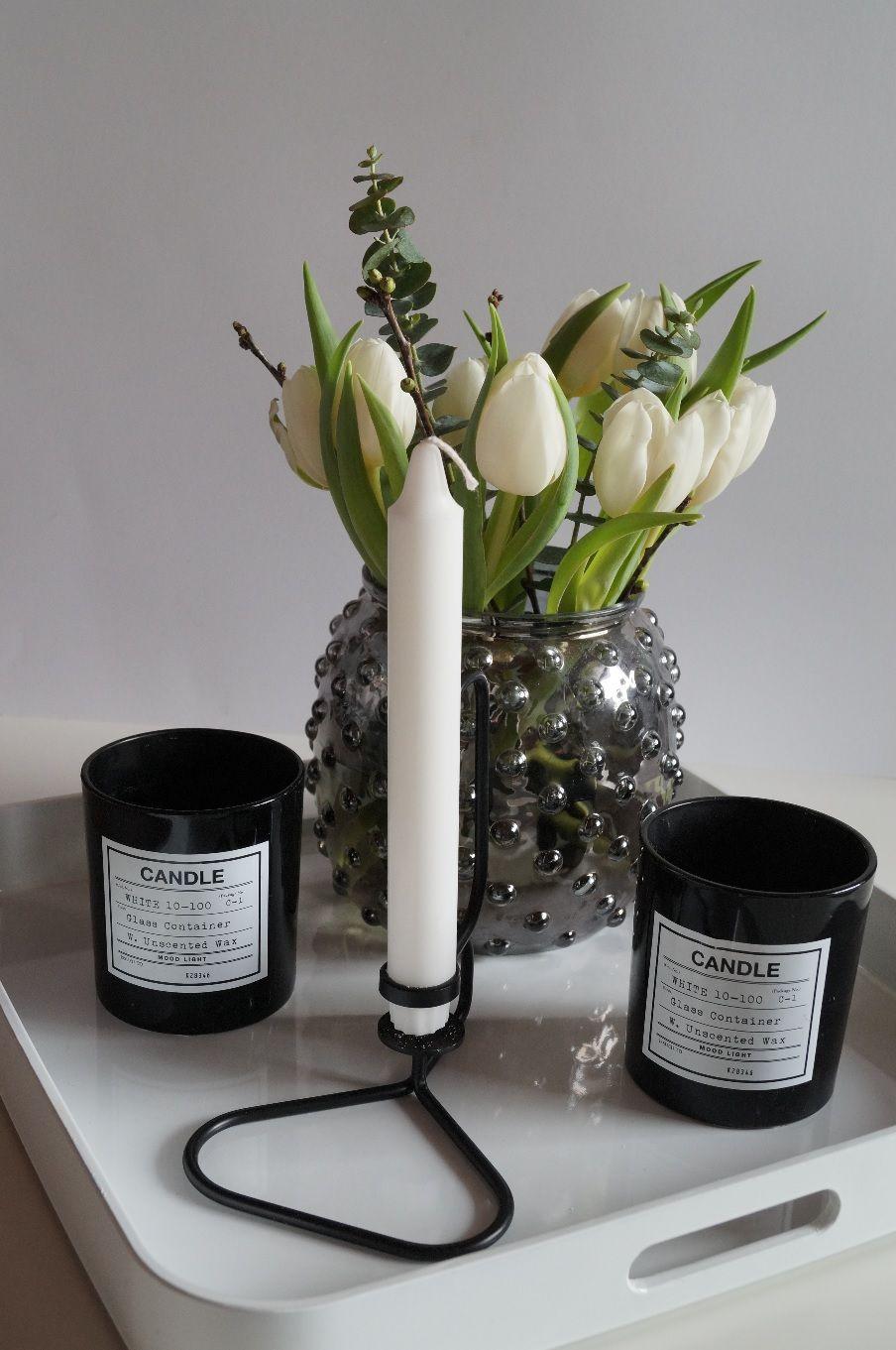 Hay Kerzenleuchter Frühlingsstimmung in schwarz und weiss