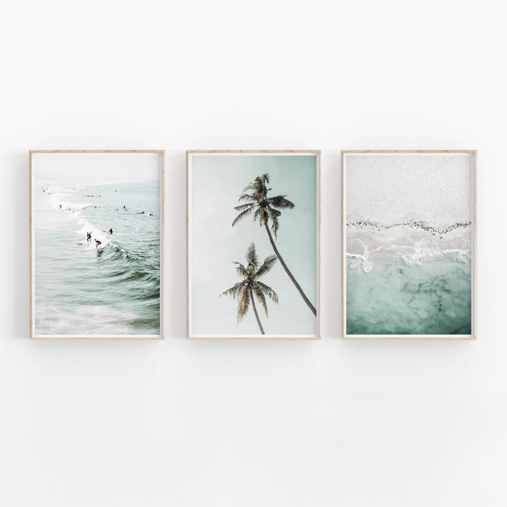 Set of 3 Prints Beach Prints Nature Print Printable Art | Etsy