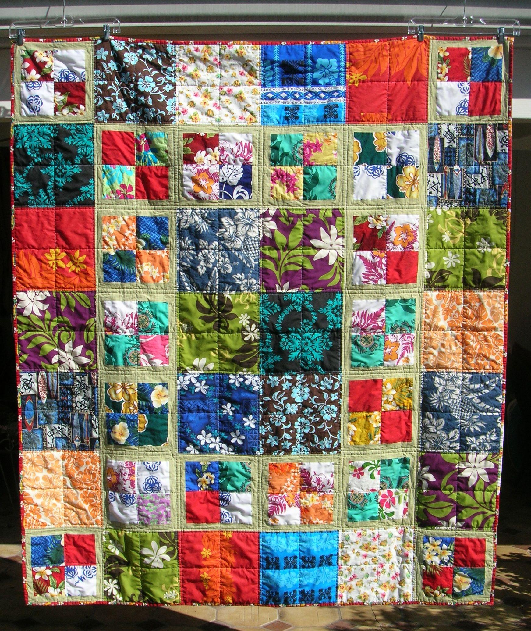 Hawaiian fabrics quilt for me!   Quilts I have made   Pinterest ... : hawaiian shirt quilt pattern - Adamdwight.com