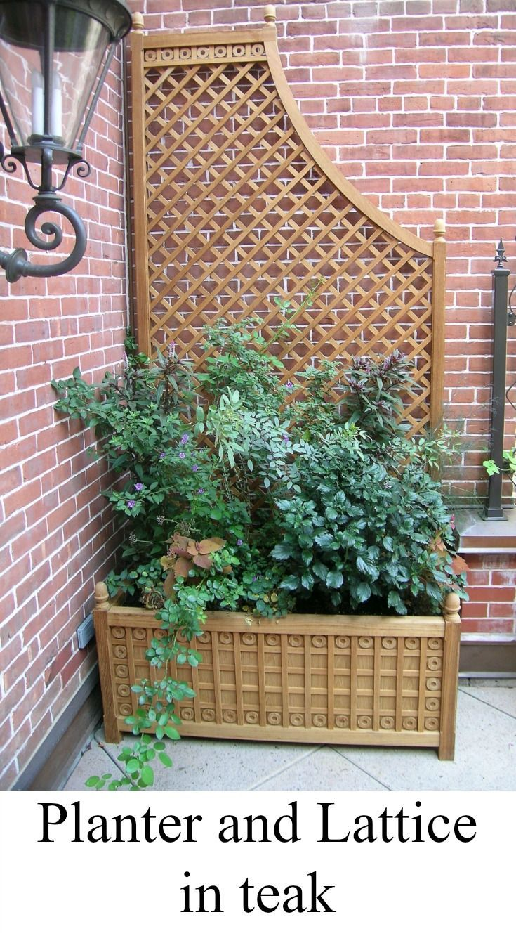 Outdoor Design With Planter And Lattice Panel In Teak By Accents