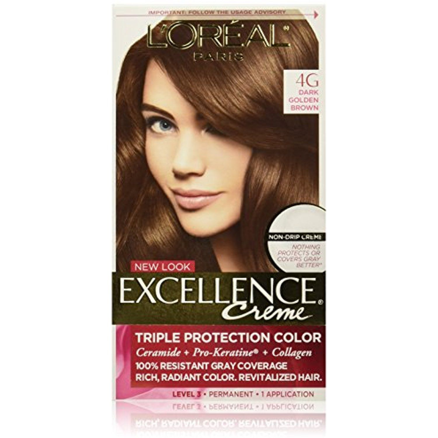 L Oreal Paris Excellence Creme 4g Dark Golden Brown Packaging May Vary You Can Find Out More De Grey Hair Coverage Loreal Paris Golden Brown Hair Color