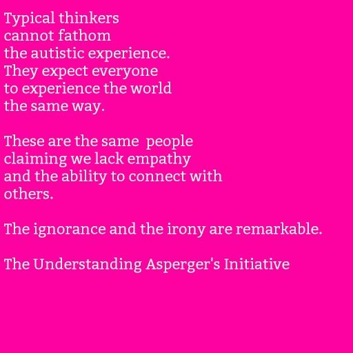 From The Understanding Asperger's Facebook page