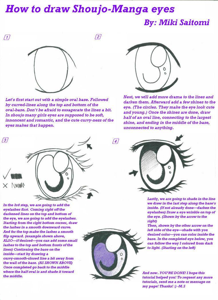 How to Draw Kawaii How to draw a ShoujoManga eye