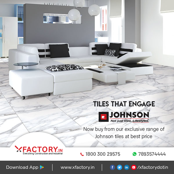 Now buy top quality Johnson tiles online at XFACTORY.IN at