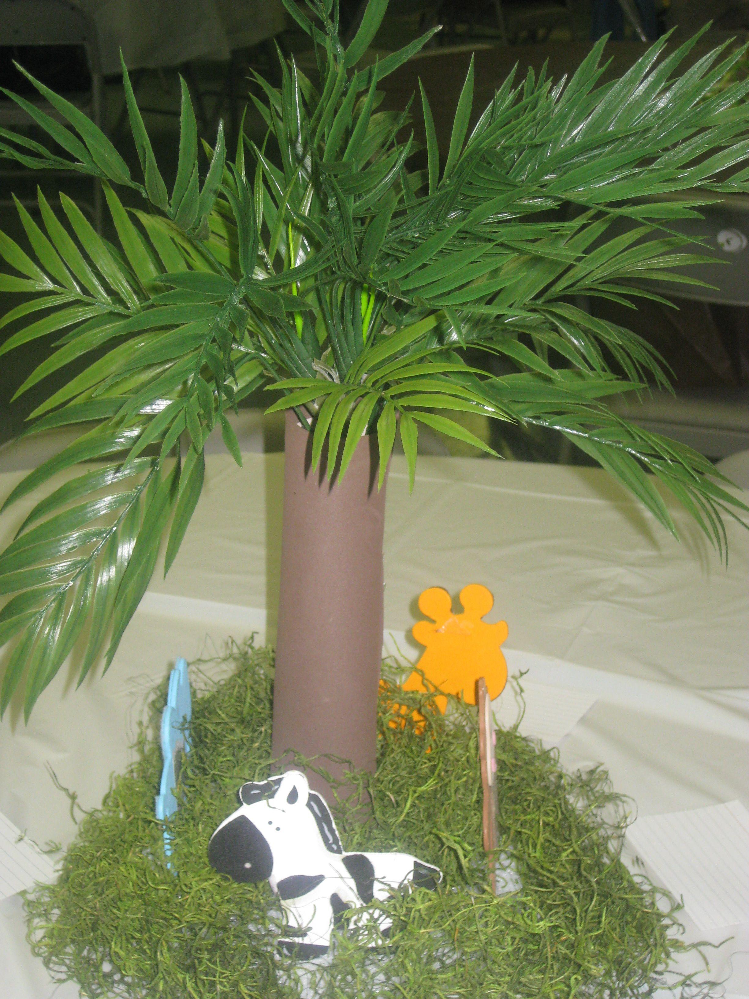 Jungle Theme Centerpiece Baby Showers Pinterest Jungle Theme Centerpieces And Birthdays