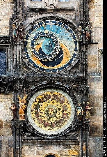 Astronomical Clock Tattoo: Astronomical Clock And Calendar In Old Town Councilhouse