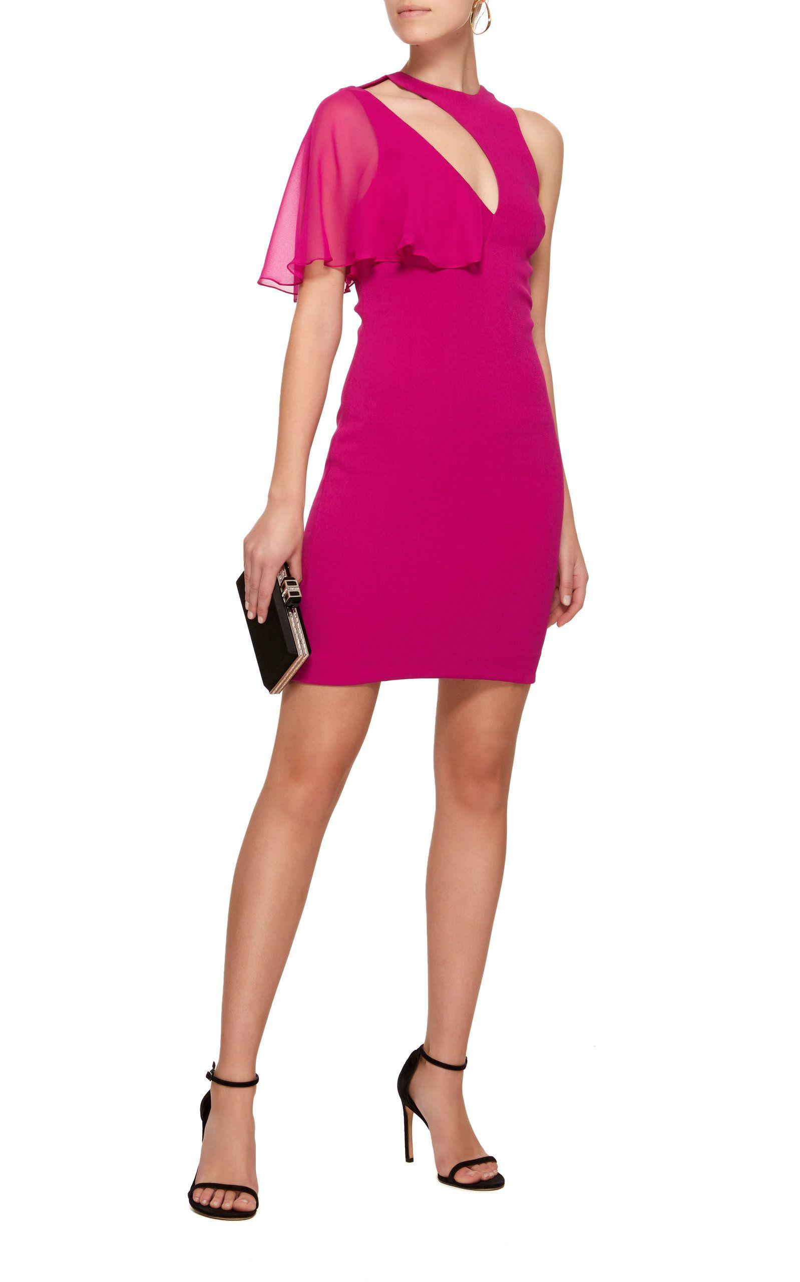Cushnie et Ochs Womens Mini Dress with Cutout