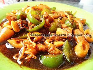Resep Cumi Asin Kecap Pedas Saus Teriyaki Resep Masakan Indonesia Resep Masakan Resep Masakan Asia
