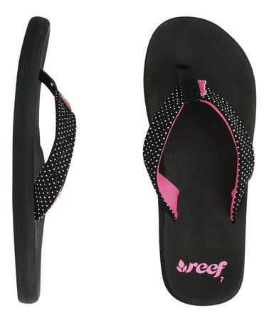 58afb4066f0a REEF my favorite! How many Flip flops are too many   This Black   Hot Pink  Seaside Flip-Flop - Women by Reef is perfect!  zulilyfinds