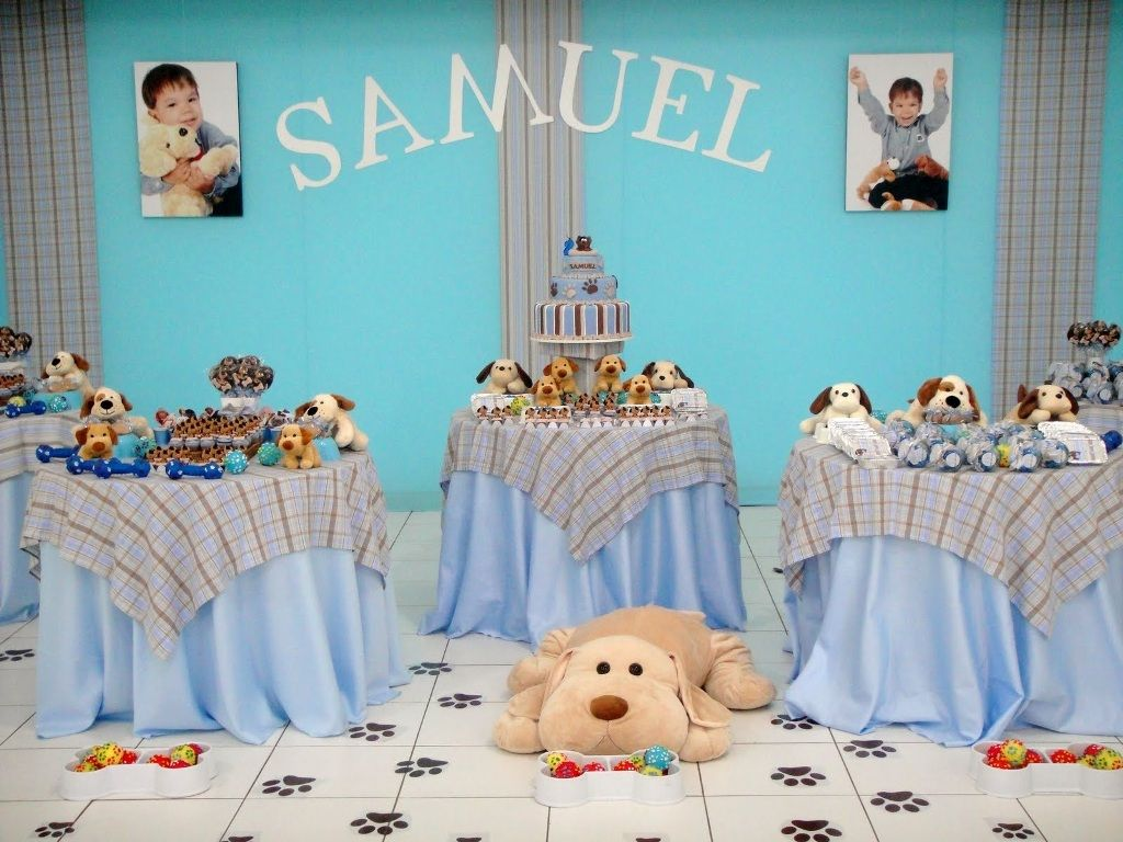 Puppy baby shower decorations ideas baby shower for Baby decoration for baby shower