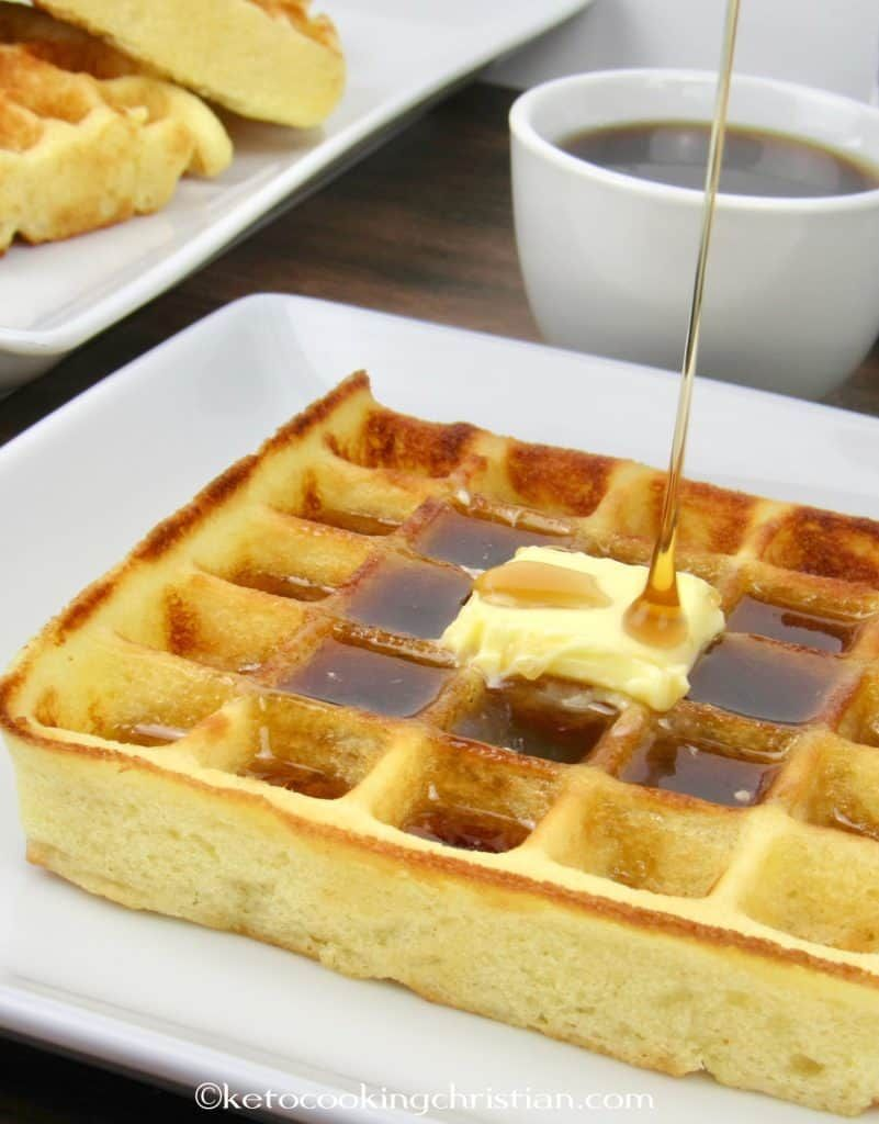 Homemade waffles keto low carb gluten free light and
