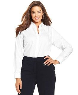 1ce2e5e0204 Jones New York Collection Plus Size Easy Care Sleeveless Shirt - Tops - Plus  Sizes - Macy s
