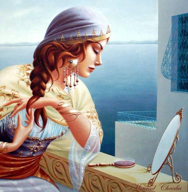 لوحات للفنان التشكيلي التونسي مراد شعابة منتديات درر العراق Arabian Art Arabic Art Girly Art