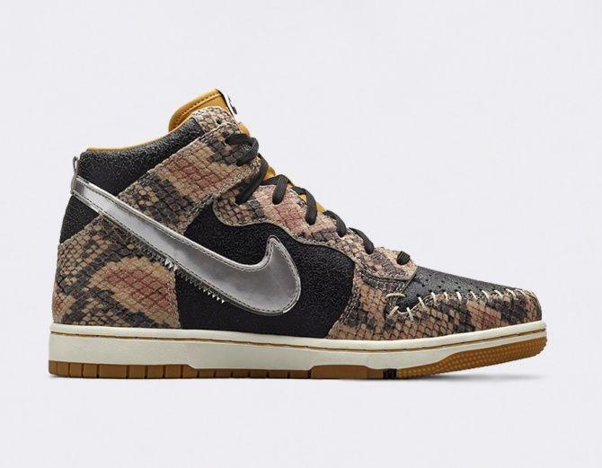 low priced 5e2f8 35149  Nike Dunk CMFT PRM QS Crocodile Dunkdee  sneakers
