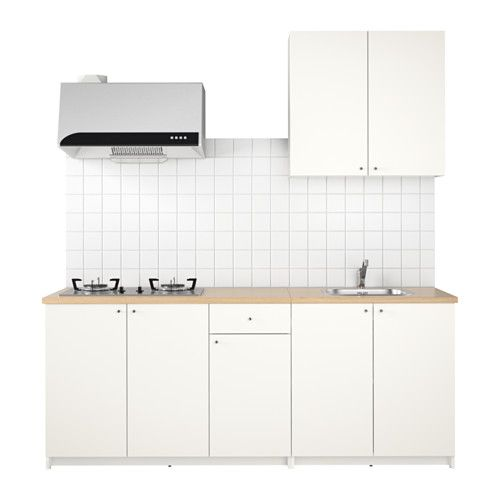 KNOXHULT Kitchen, white Water traps, Basin mixer and Mixer taps - ikea küche planen online