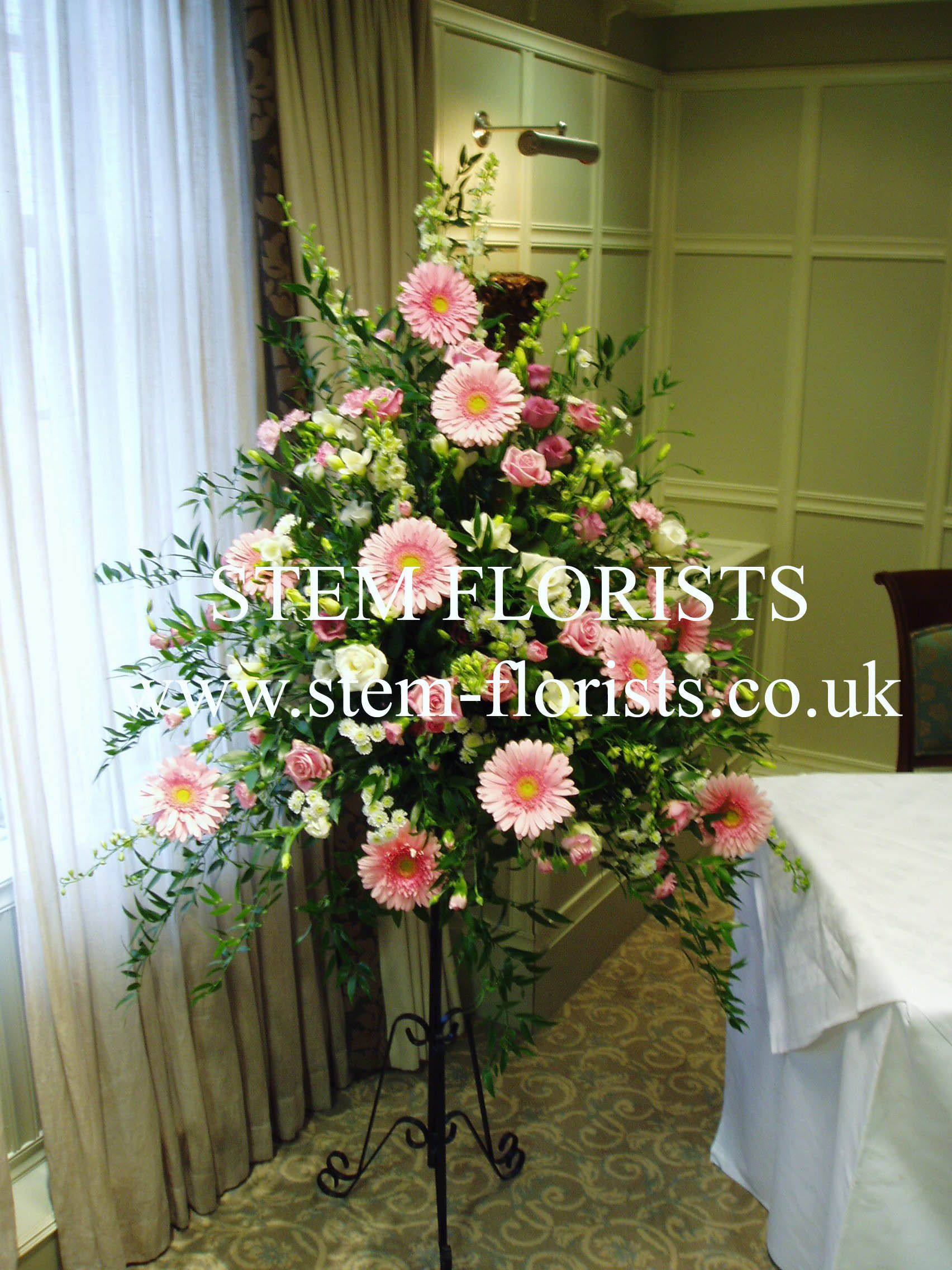 Large flower arrangement ideas pedestal s garlands and