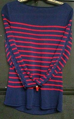 RARE Fine Estate Like New Conditon Retired Vintage Authentic Ralph Lauren Black Label Lace Up Sleeve Gold Ties Viscose Shirt, Red and Blue Stripes, A STUNNING WELL MADE HEAVY SHIRT THAT WILL LAST A LIFETIME with FREE PRIORITY SHIPPING @ www.iBidBuyShip.com!