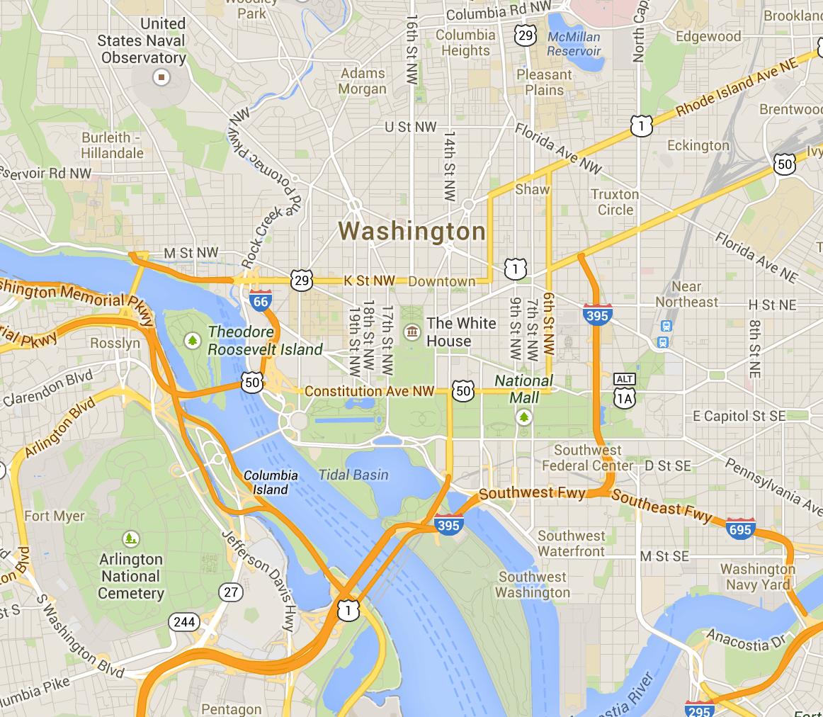 See a Map of the Washington DC Monuments and Memorials   Washington dc