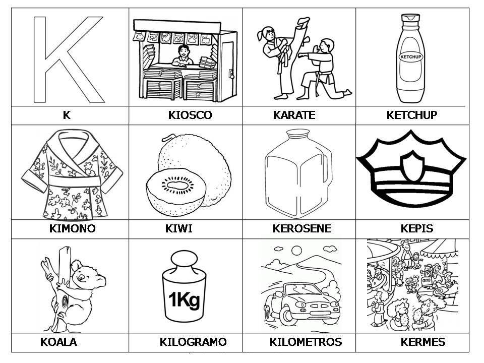 Vocabulario Con Imagenes Para Ninos Actividades De Letras Letras Del Abecedario Abecedario Para Ninos