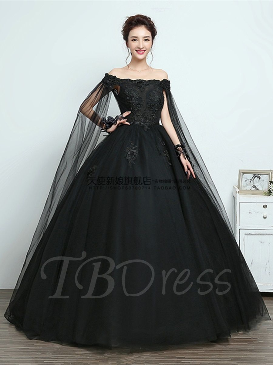 Off The Shoulder Appliques Ball Gown Black Quinceanera Dress Black Quinceanera Dresses Gowns Black Ball Gown [ 1200 x 900 Pixel ]
