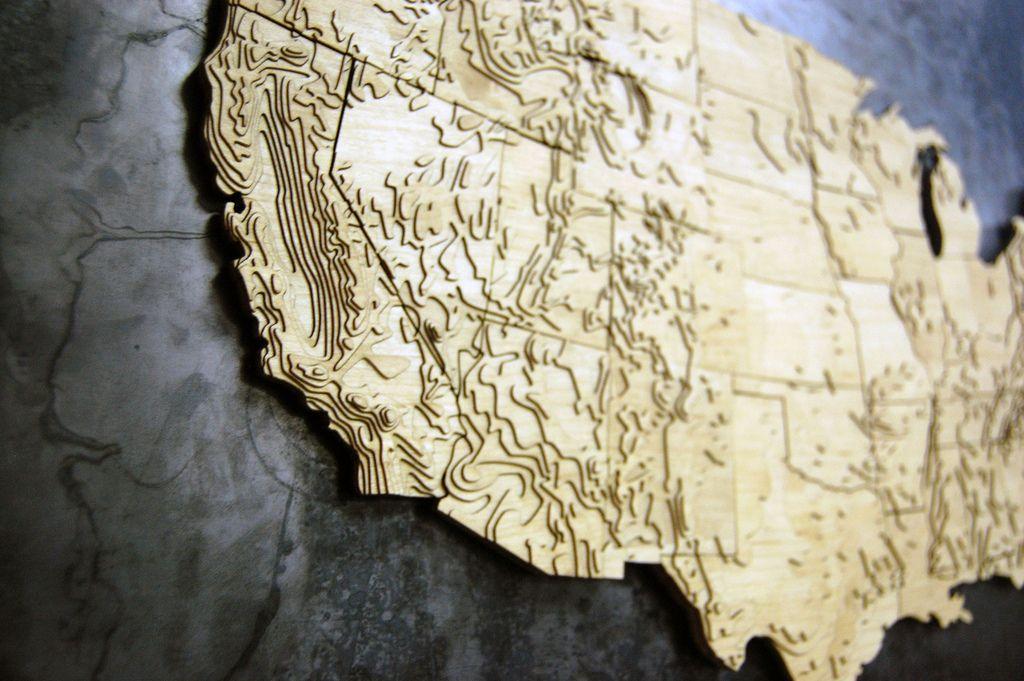 Map plywood laser CNC routerlaser plus print Pinterest