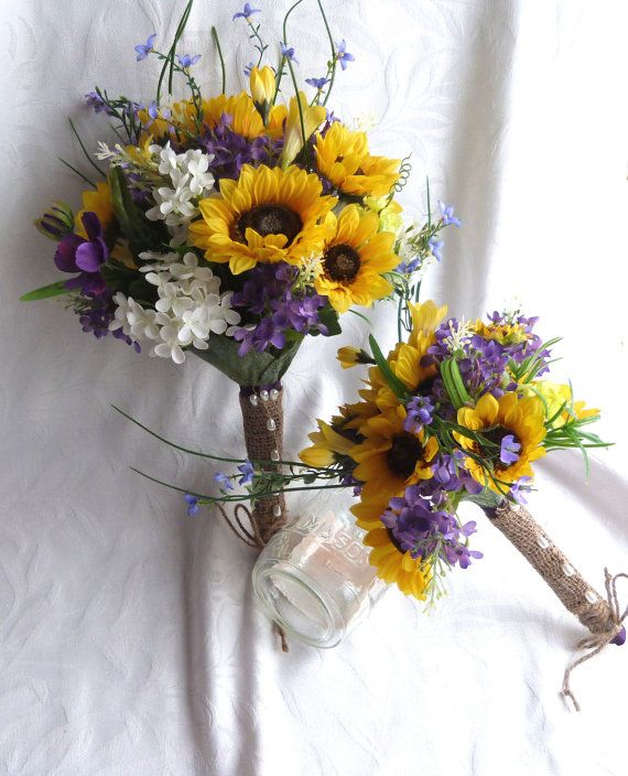 Sunflower wedding country wedding sunflower and lilac bouquet set heres what we found about purple flowers read up the info about purple flowers and learn more about it mightylinksfo
