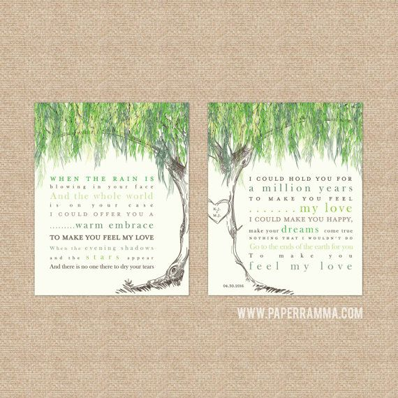 Adele Lyrics Make You Feel My Love Willow By Paperramma On Etsy