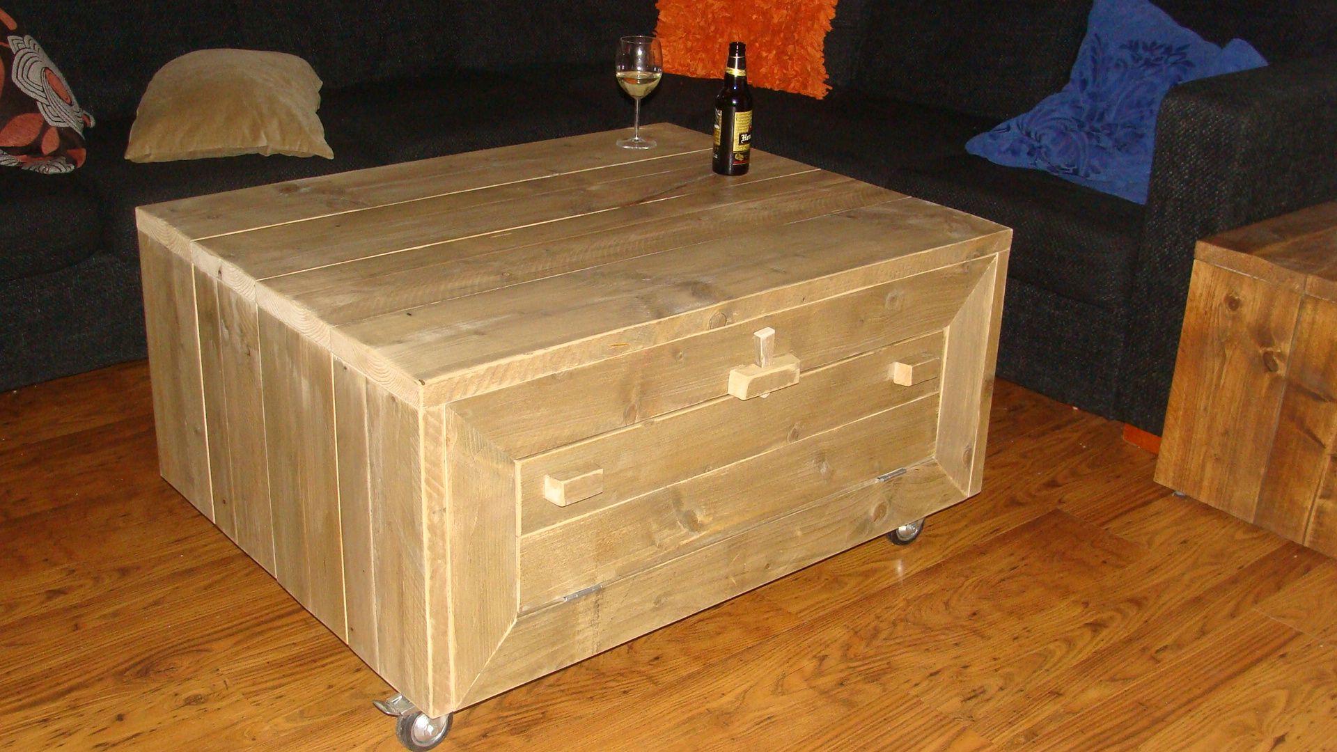 Tafel Met Opbergruimte : Tafel met opbergruimte via klep steigerhout pinterest