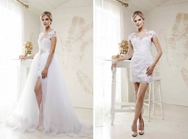 Detachable skirts transit your big wedding gown to a flirtier ...