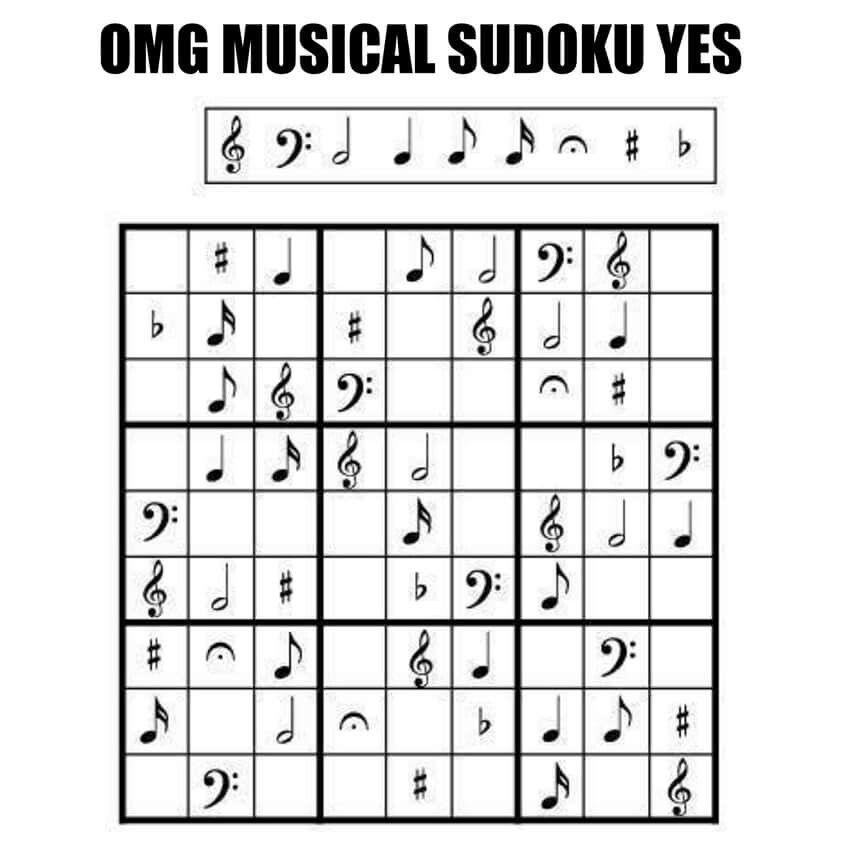 Musical sudoku.   Music lesson   Pinterest   Musikunterricht