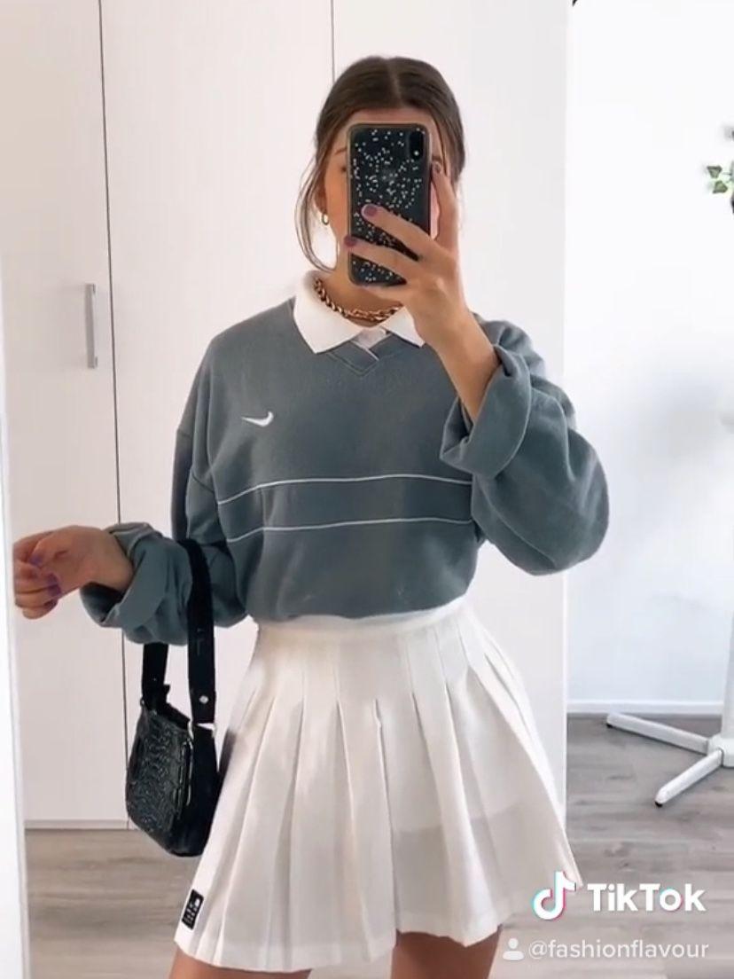 Tiktok Fashionflavour Ig Sophievanoest In 2020 Tennis Skirt Outfit White Tennis Skirt Fashion Inspo Outfits