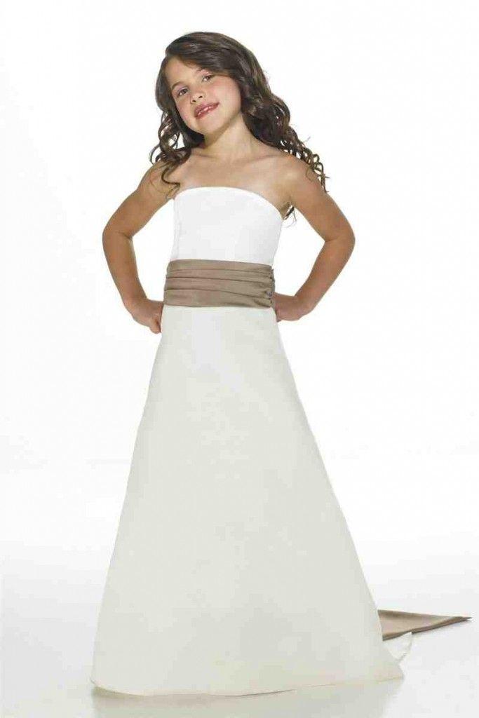 White Junior Bridesmaid Dresses | Wedding Bell Bliss | Pinterest