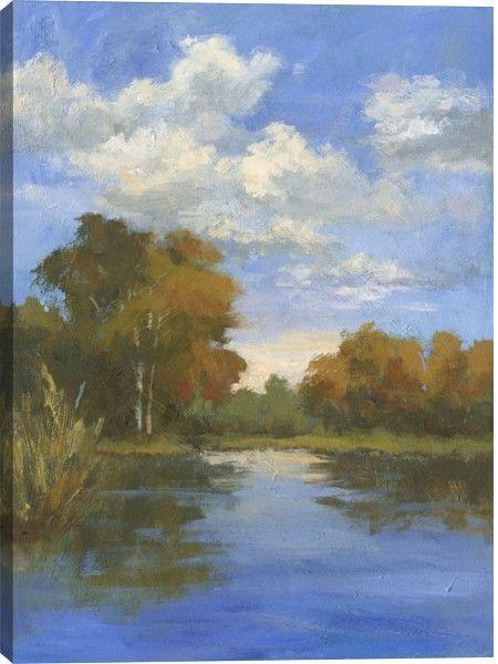 Before Sunset II Landscape Canvas Wall Art Print By Karen Wilkerson