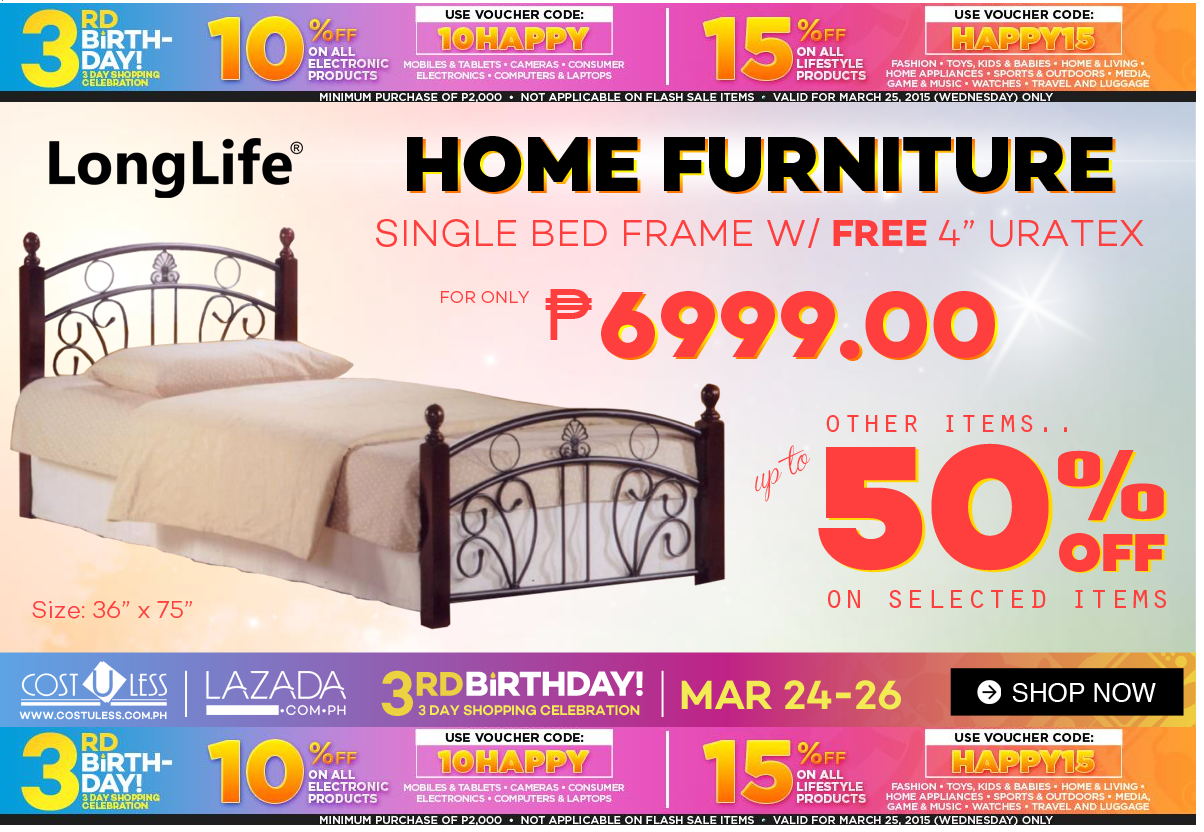Happy 3rd Birthday Lazada 3 Day Sale On Home Furniture Buy