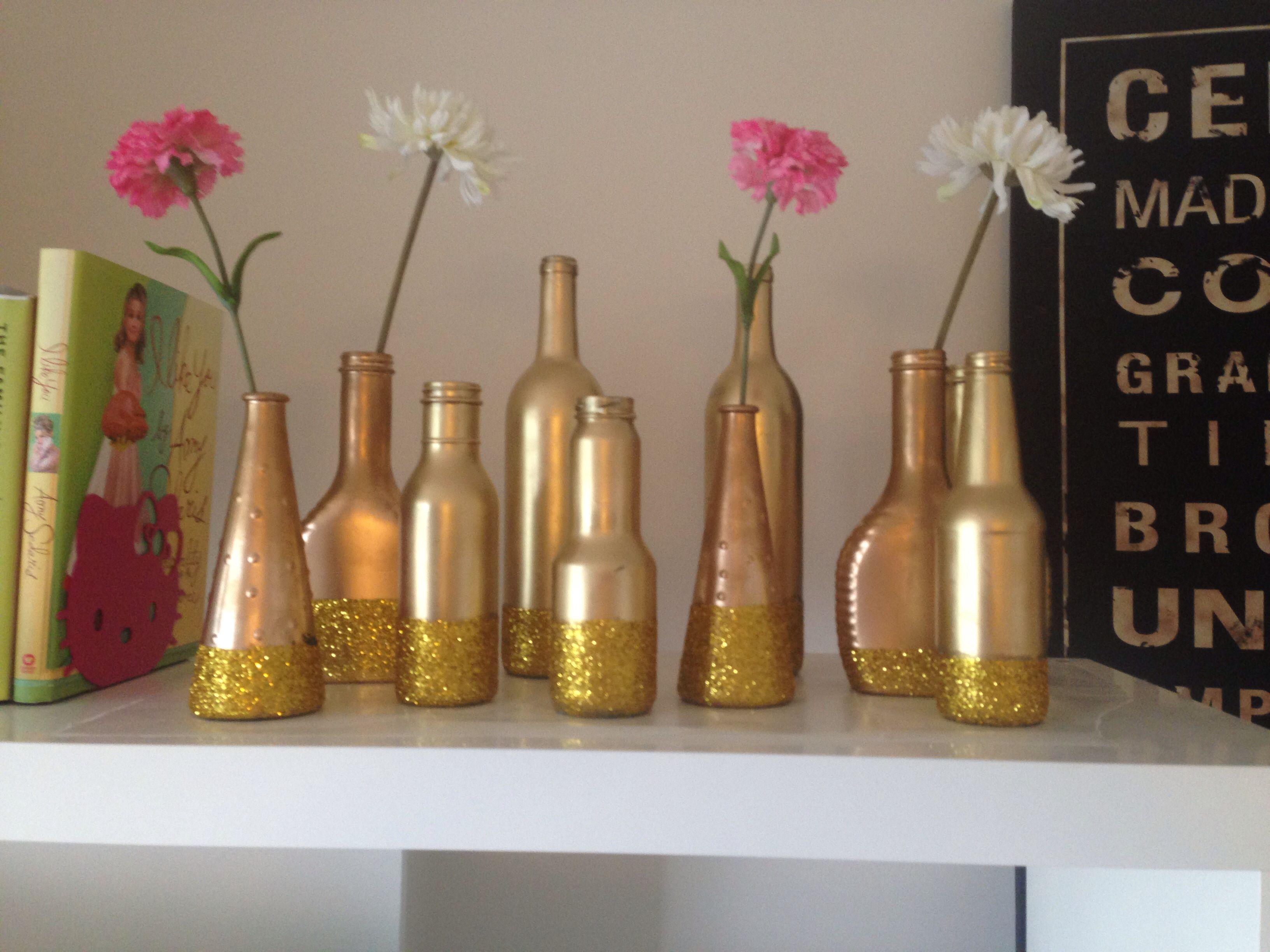 21++ Gold spray paint for glass bottles inspirations